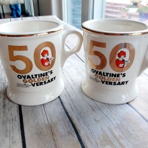 SET OF TWO COLLECTIBLE OVALTINE MUGS